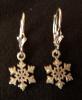 Sterling Silver Dangling Snowflake Earings